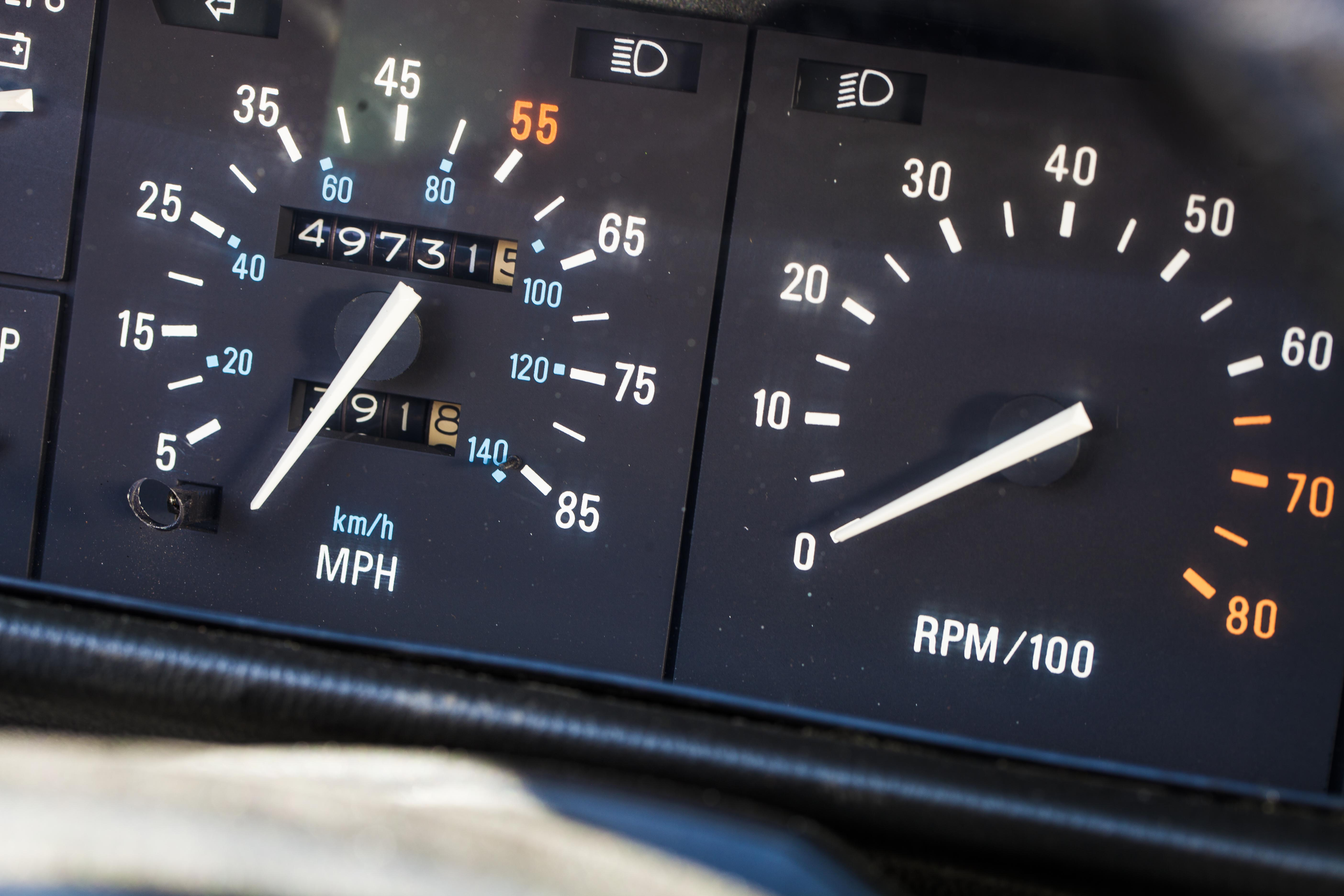 DeLorean DMC-12 dashboard