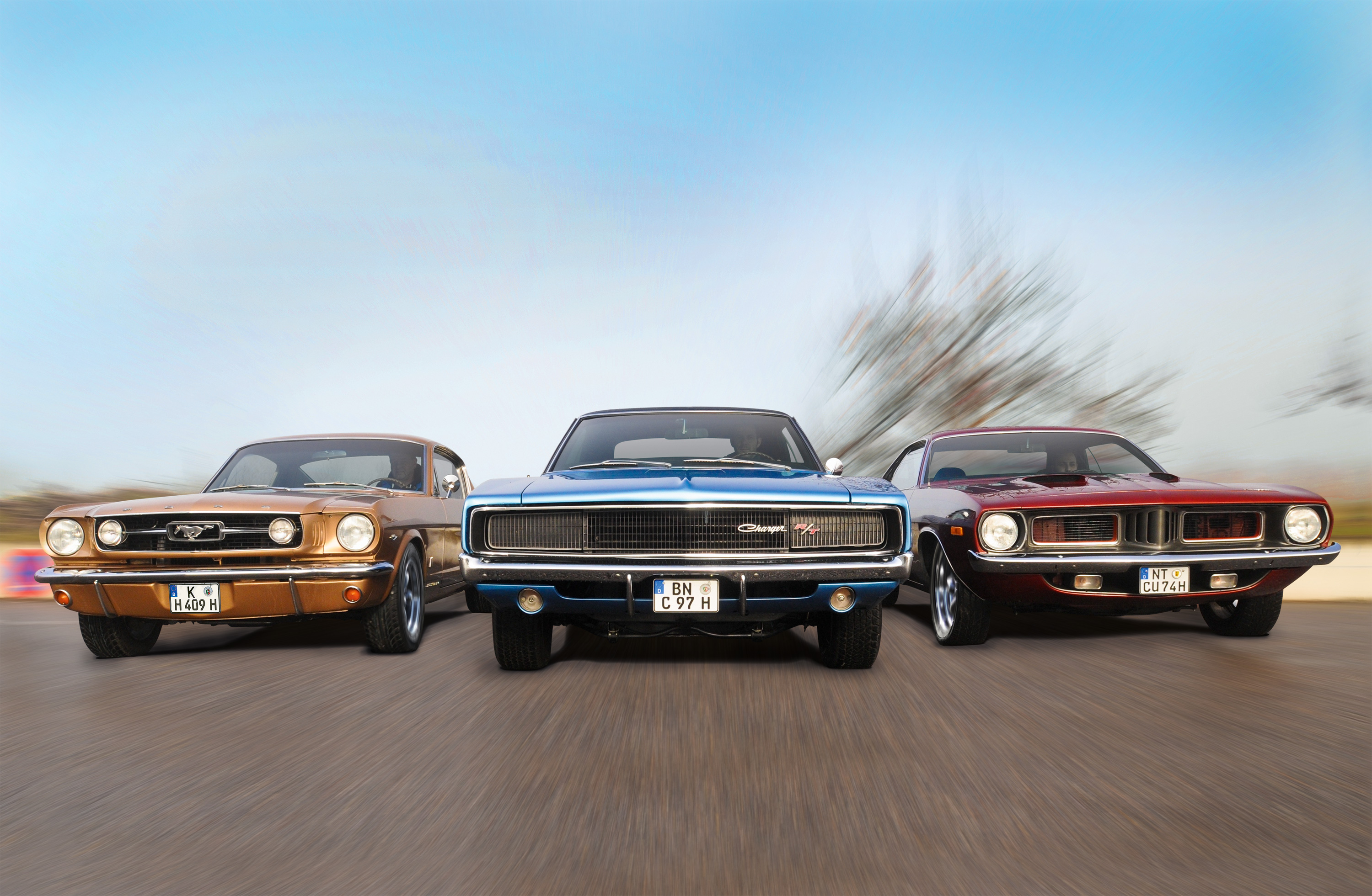 Dodge Charger Ford Mustang Plymouth Barracuda