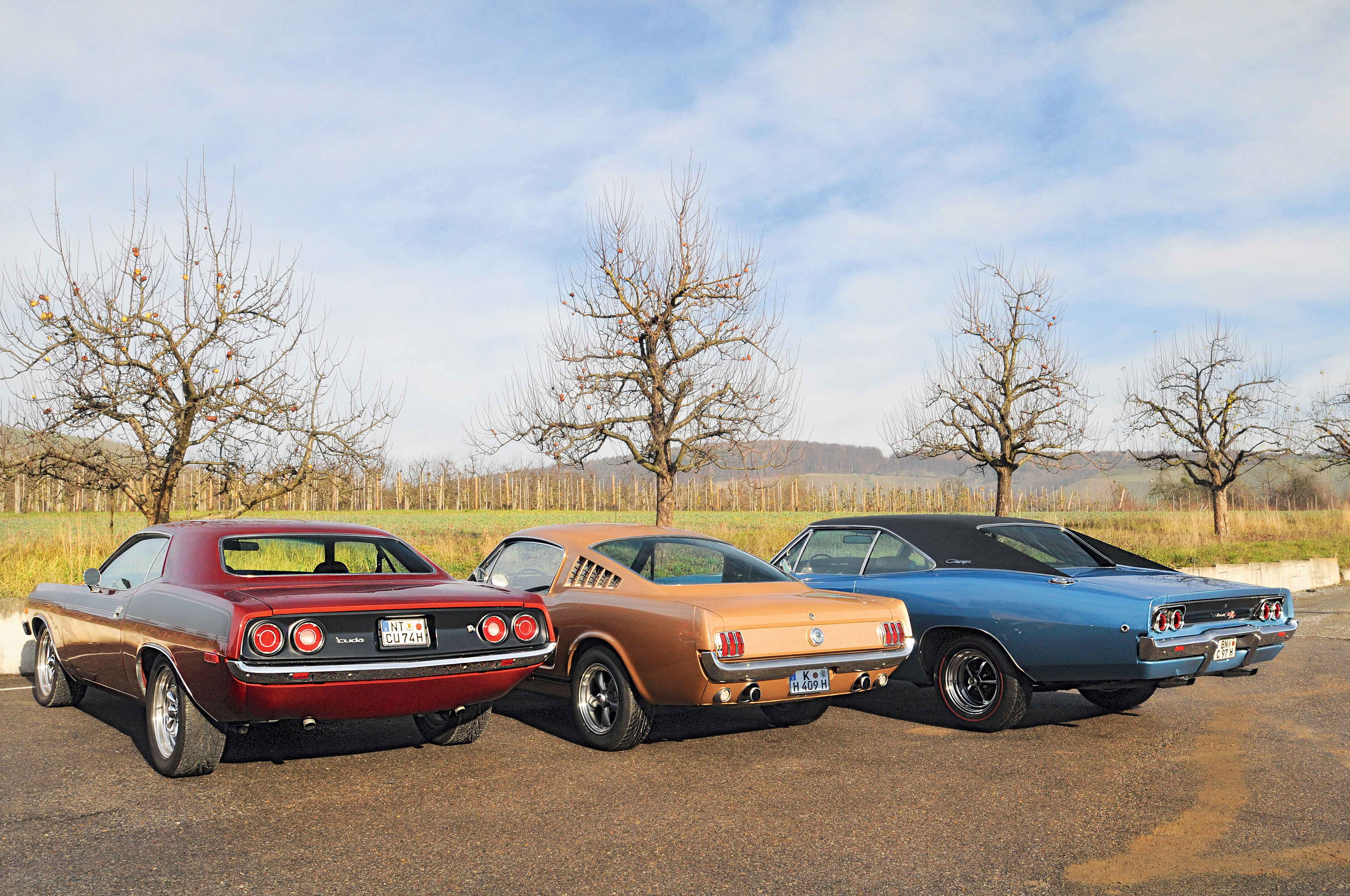 Dodge Charger RT Ford Mustang Plymouth Barracuda